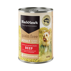BLACK HAWK WET GRAIN FREE BEEF 400G