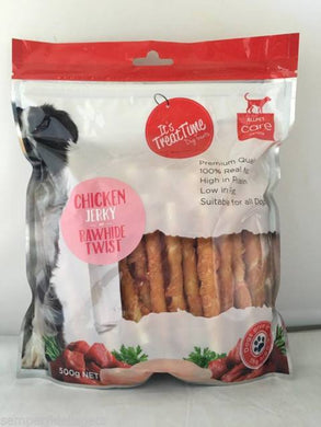 IT'S TREAT TIME CHICKEN RAWHIDE TWIST 100G