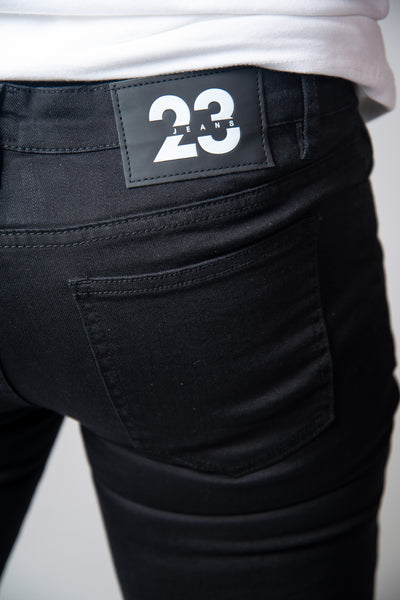 Jet Black Super Spray On Jeans - Ripped & Repaired - Jeans23