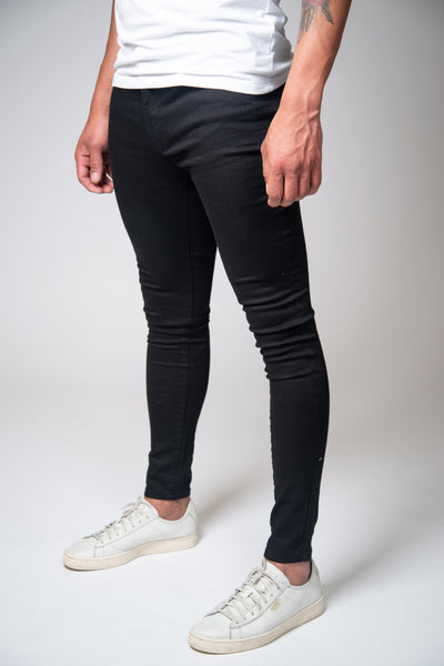 Jet Black Super Spray On Jeans - Non Ripped - Jeans23
