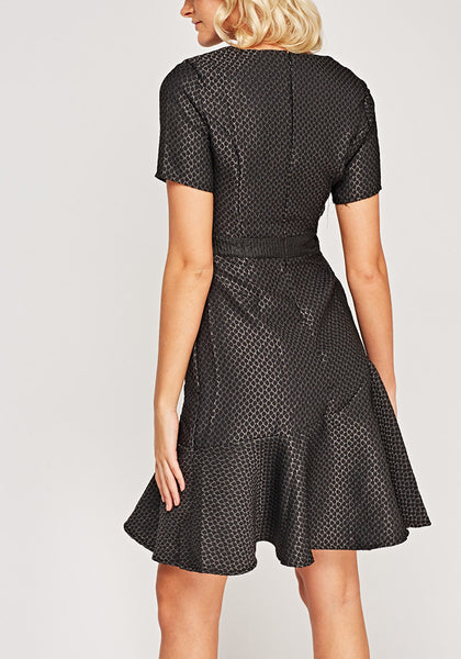 Flare Printed Hem Dress