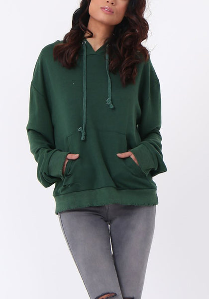 Hooded Pinned Sweat Shirt
