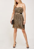 Gold Pleated Lurex Dress