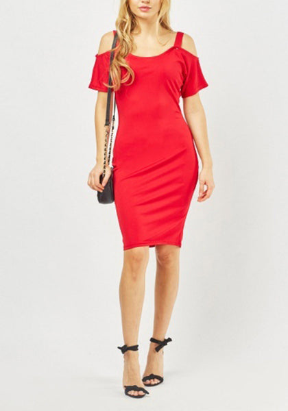 Red Mini Bodycon Dress