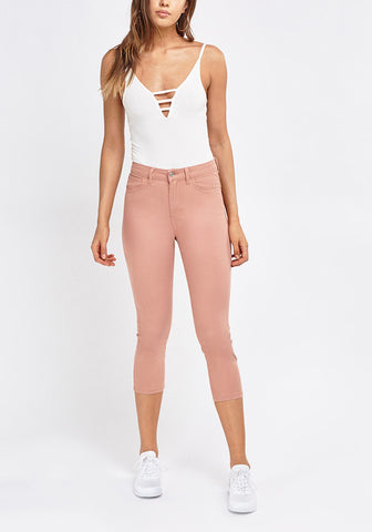 Light Washed Cropped Jeans