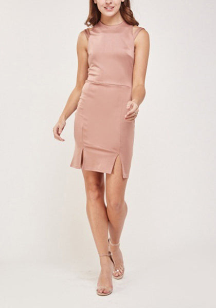 Cut Out Sleeve Bodycon Dress
