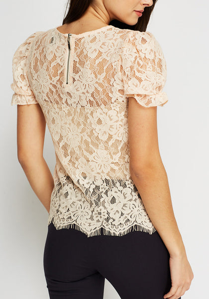 Floral Peach Casual Top
