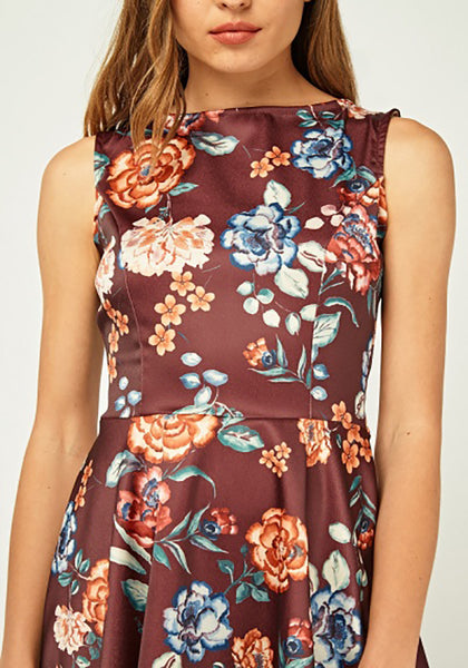 Floral Flared Hem Dress