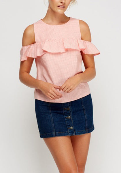Pink Frilled Top