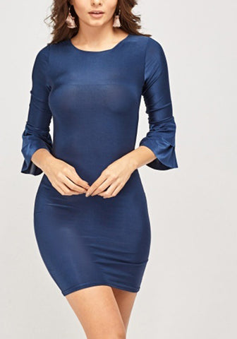 Blue Mini Bodycon Dress
