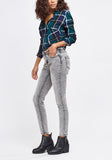 Light Grey Low Waist Skinny Jeans