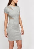 Mesh Bodycon Contrast Dress