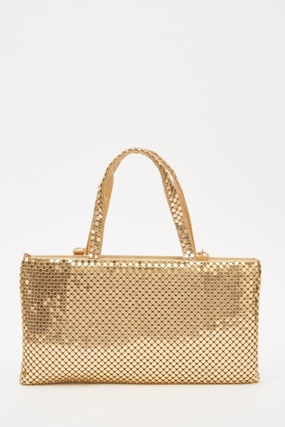 Metallic Chain Strap Handbag