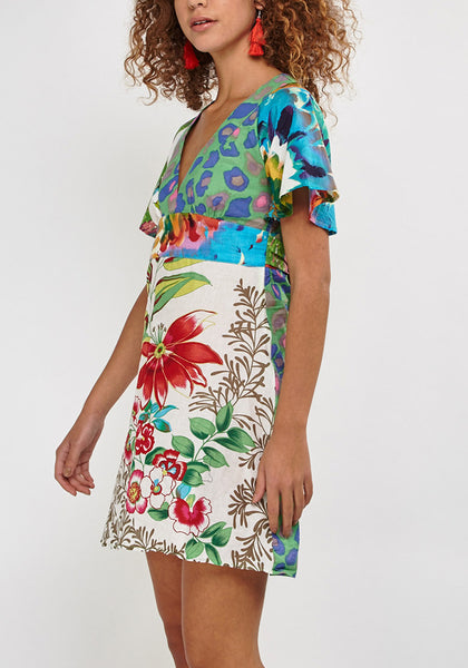 Shift Mixed Print Dress