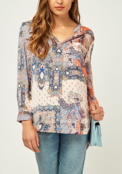 Mixed Printed Blouse