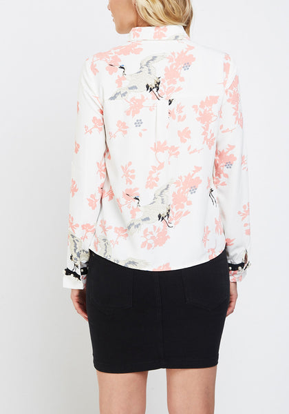 Embellished Printed Casual Shirt