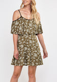 Frilly Printed Skater Dress