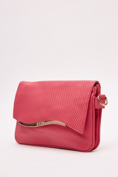 Hot Pink Quilted Contrast Bag