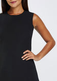 Black Textured Flared Dress