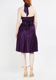 Plum Halter Neck Dress