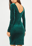 Green Formal Velveteen Dress