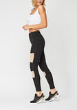 Black Mesh Sports Leggings