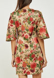 Wide Sleeve Floral Dress