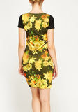 Yellow Floral Panel Dress