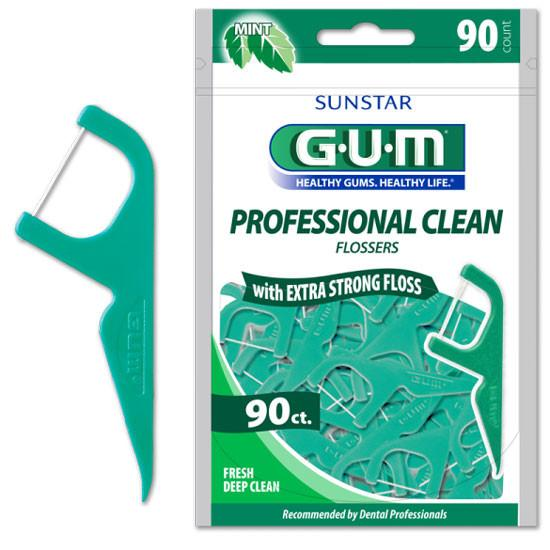 Buy GUM Eez-Thru Extra Strong Flossers,  Fresh Deep Mint, 90/Pack by Sunstar Americas - Mi Paste Store