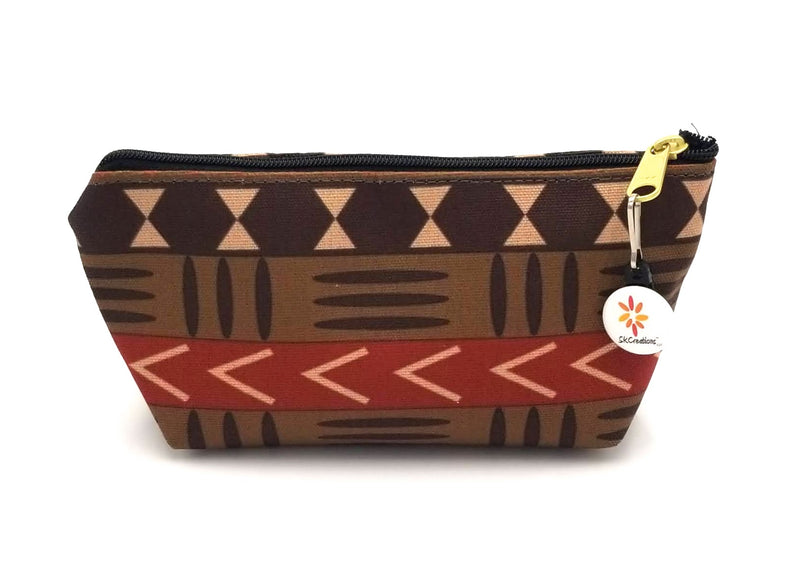skcreationsllc, skcreations, the africa collection, accessory pouch, mud cloth pattern, cosmetic pouch, make-up pouch, art design pouch, creative design pouch, original art pouch