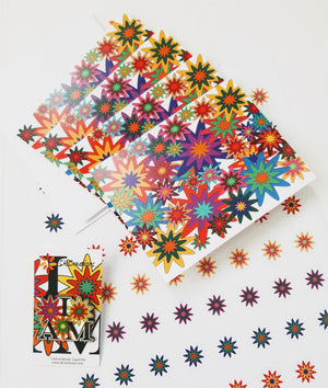 """In Full Bloom"" © Boxed Note Card Set and ""I AM in Bloom"" © Lapel Pin"