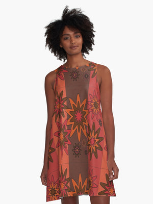 Blooming Happy - Warm © Tunic Dress