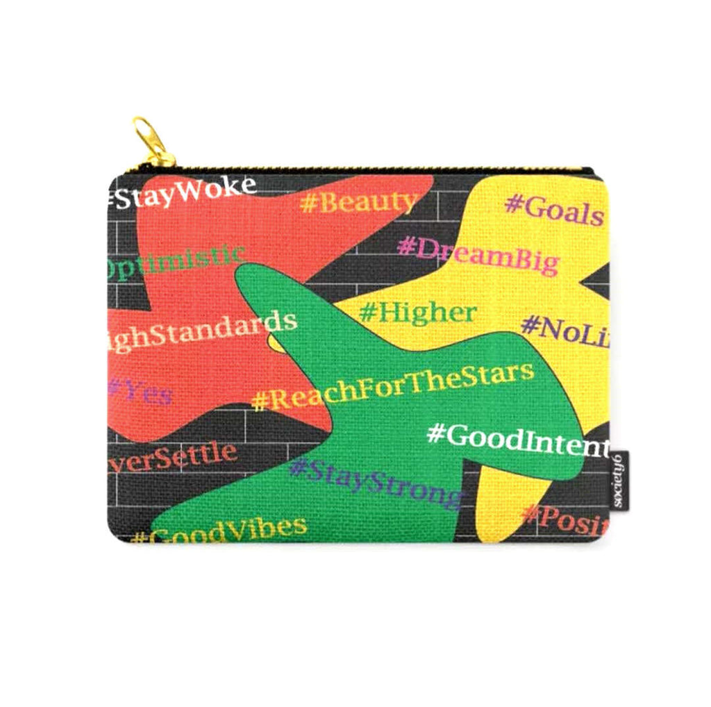 Hashtags Up © Zippered Pouch