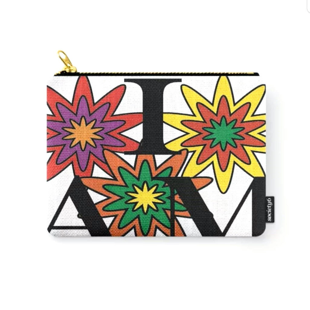 """I AM"" in Bloom © Zippered Pouch"