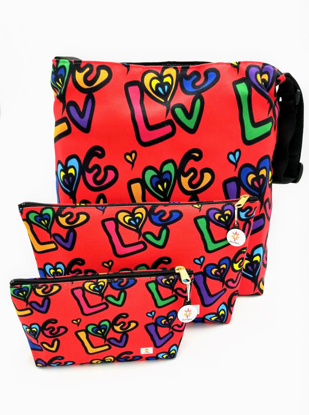 Love 2 © Crossbody Bag and Pouches Set