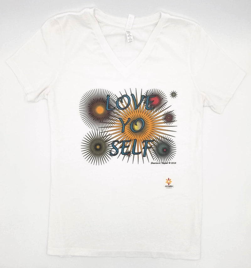 Love Yo Self V-Neck © T-Shirt