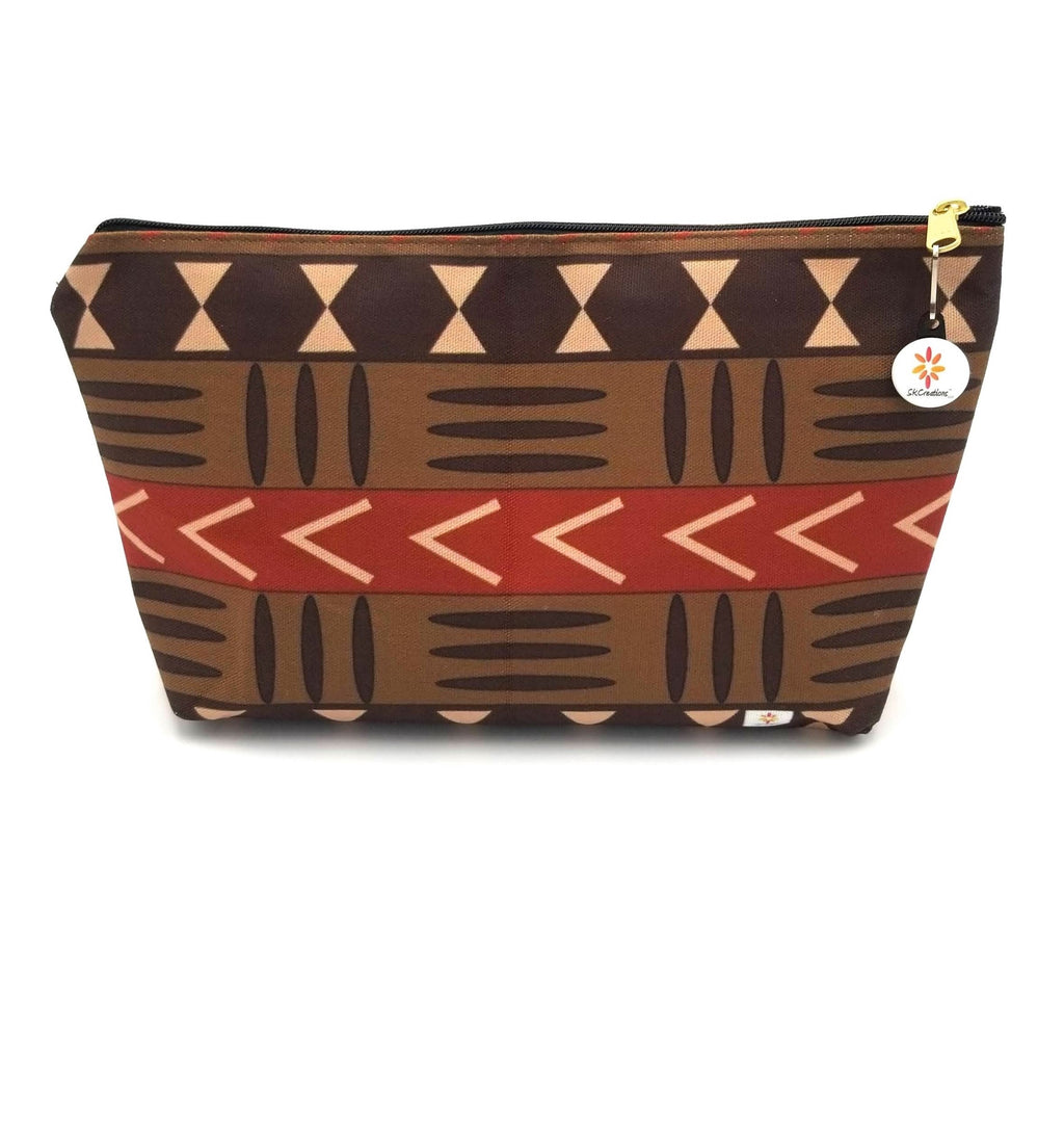 Mud Cloth Pattern 1 © T-Bottom Accessory Pouches