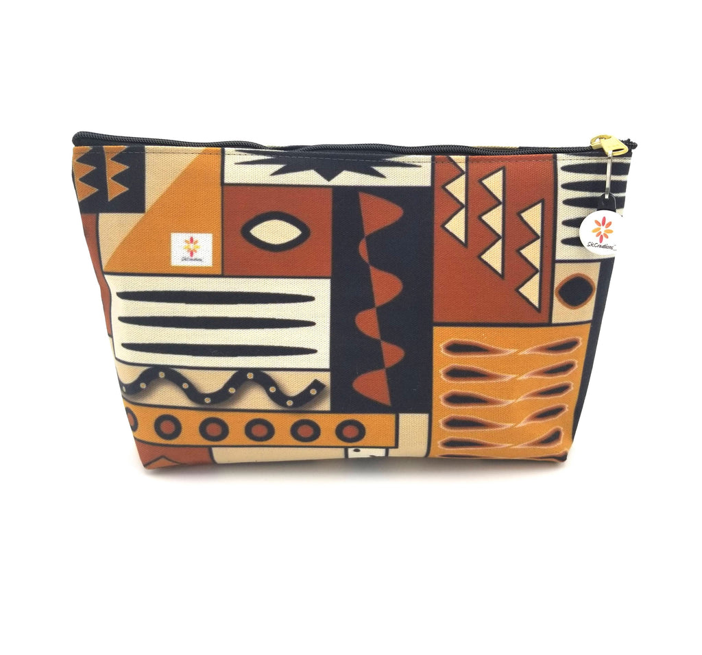 Mud Cloth Pattern 4 © T-Bottom Accessory Pouches