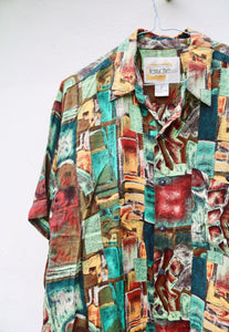 Ferruche USA 90s Abstract Art Shirt