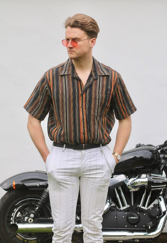 Casual Co Vintage Striped Havana Collar Shirt