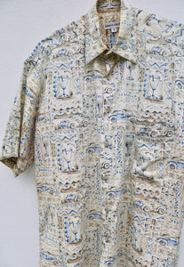 Pierre Cardin Tapestry Vintage Short Sleeve Shirt