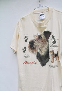 Tultex USA 90s Airedale Terrier GB T-Shirt