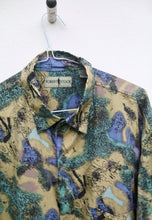 Robert Stock USA Vintage Beautiful Silk Watercolour Shirt