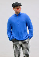Ralph Lauren 1/4 Zip Dodger Blue Sweatshirt