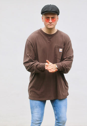 Carharrt USA Lightweight Mocca Brown Sweatshirt