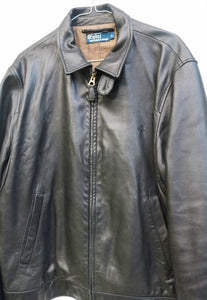 Ralph Lauren Leather Harrington Jacket