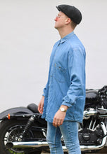 Armani Vintage Heavyweight Lightwash Denim Shirt
