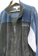 Perry Ellis Vintage USA Velour Track Jacket