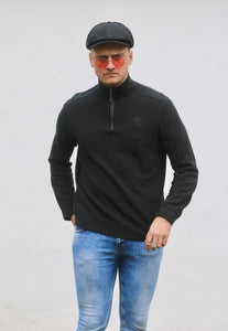 Ralph Lauren USA 1/4 Jet Black Sweatshirt