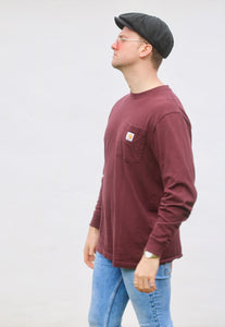 Carharrt USA Maroon Lightweight Pocket Sweatshirt